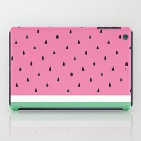 watermelon iPad Cases featuring Watermelon by Anna Lindner