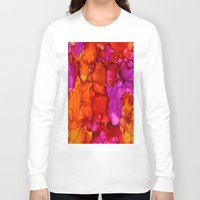 fierce Long Sleeve T-shirts featuring Fierce by Claire Day