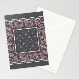 Wicked Gray Bandana Stationery Cards