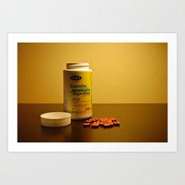 Still life with medication Art Print