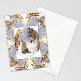 Wolf Oval Pattern Stationery Cards