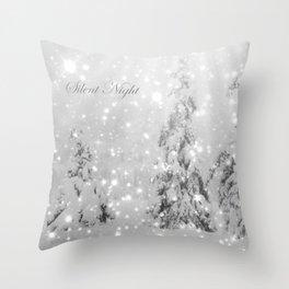 Silent Night - B & W Throw Pillow