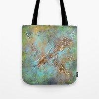 Gold Abstract Tote Bag