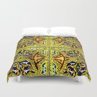 arabic Duvet Covers featuring Arabic Tiles by Barbo's Art
