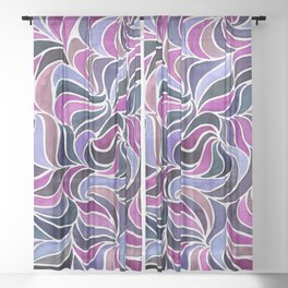 Magenta Currents Sheer Curtain