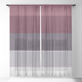 scandinavian moody winter fashion dark red plum burgundy grey stripe Sheer Curtain