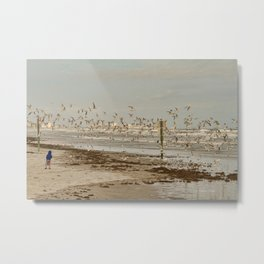 My Day at the Beach Metal Print