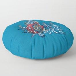 Blue Horde Floor Pillow