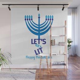 Let's get Lit Hanukkah Wall Mural