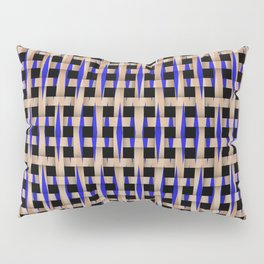 Wooden Weave With Blue Pattern Pillow Sham