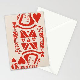 QUEEN CITY HEARTS Stationery Cards