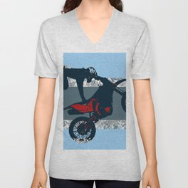 Flying Freestyle Moto-x Champ Unisex V-Neck