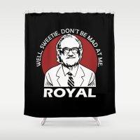 tenenbaum Shower Curtains featuring Royal Tenenbaum quotes by Buby87