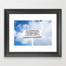 NOTKNOWING pt 2 Framed Art Print