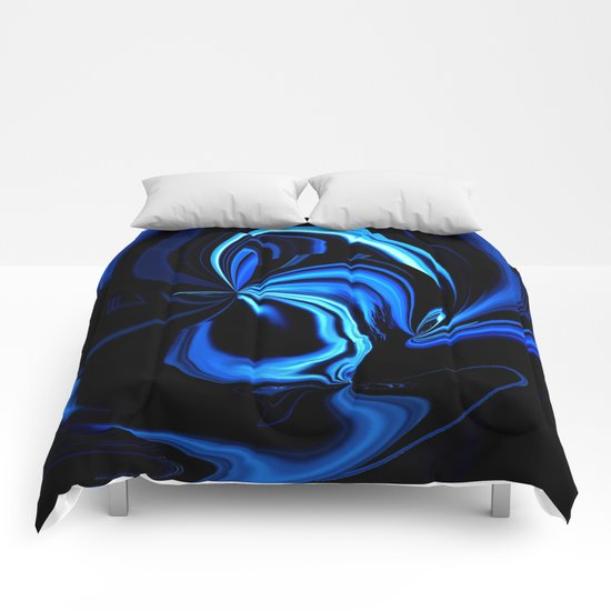 Blue Butterfly Abstract Comforters
