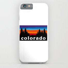 Colorado Forest Camping Crested Butte Ski Snowboard Hiking Mountain Sunset Gift Ideas Sticker iPhone Case