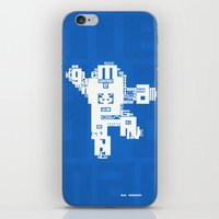 megaman iPhone & iPod Skins featuring Megaman Typographique by Boidin