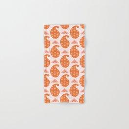 Hand drawn coral paisley motif illustration. Hand & Bath Towel