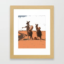 Hitching a ride Framed Art Print