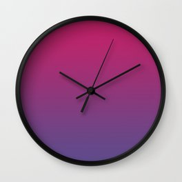 Pink Peacock Ultra Violet Gradient Pattern Wall Clock