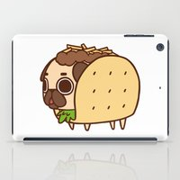 taco iPad Cases featuring Puglie Taco by Puglie Pug