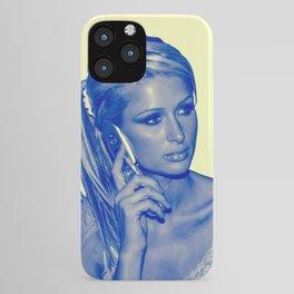 Paris Hilton on Phone iPhone Case