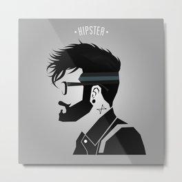 Hipster Men Fashion 3 Metal Print
