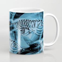 Tiger Fire, Blue Coffee Mug