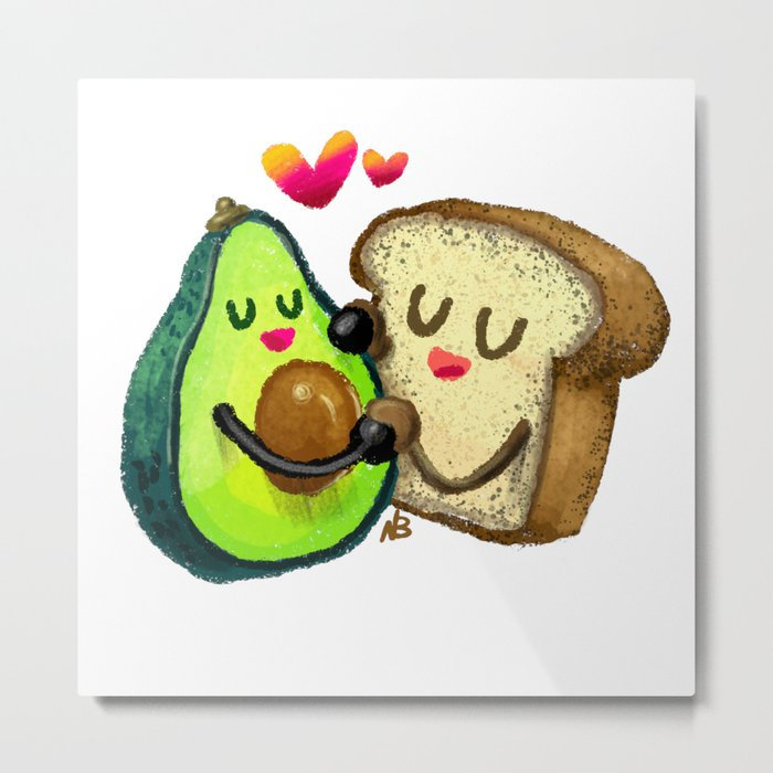 Avocado Toast Metal Print