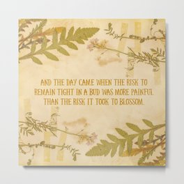 Autumn Anais Nin Quote Metal Print