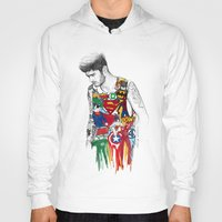 superhero Hoodies featuring Zayn Superhero  by Coconut Wishes
