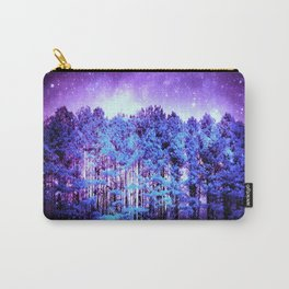 Turquoise Trees Purple Space Carry-All Pouch