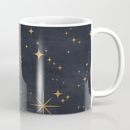 Seamless Pattern Night Sky Gold Stars Magical Mystical Pattern Coffee Mug