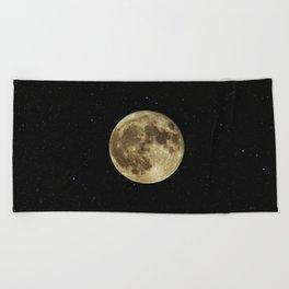 Moon and Stars Beach Towel