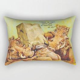 ugly warthog Rectangular Pillow