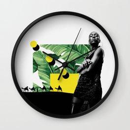 Obsidian Wall Clock