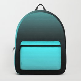 Cyan Gray Black Ombre Gradient Backpack