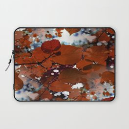 Branches in burgundy and bronze - Seamless fall leaf pattern Laptop Sleeve