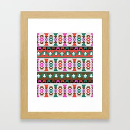 Southwestern shapes Framed Art Print