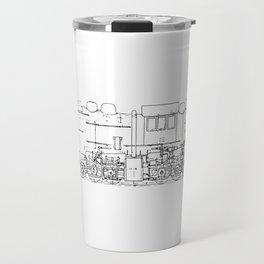 Sketchy train art Travel Mug