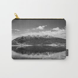 Twin Lakes - Mount Elbert at Twin Lakes Colorado in Black and White Carry-All Pouch