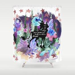 Last Unicorn Quote Shower Curtain