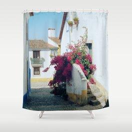 Portugal, Obidos (RR 185) Analog 6x6 odak Ektar 100 Shower Curtain