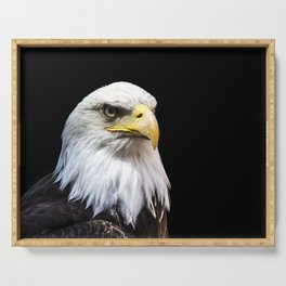 Majestuous Bald Eagle Serving Tray