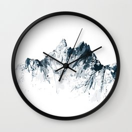 Mount Pilatus grey Wall Clock