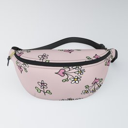 Little girl's pink hearts and daisy's Fanny Pack