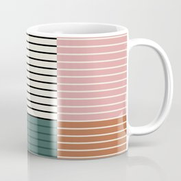 Color Block Line Abstract V Coffee Mug