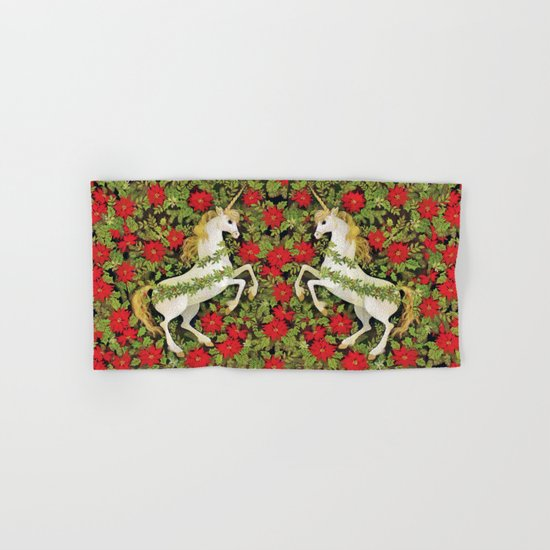 Christmas Unicorn Hand & Bath Towel