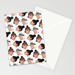 kissy face (black version) Stationery Cards