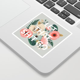 LET THAT SHIT GO - Sweary Floral Sticker